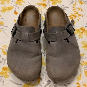 Birkenstock Grey Clogs - Size 37